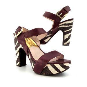 Michael Kors Zebra Print Platform Sandals